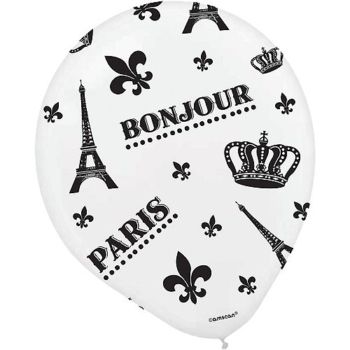 A Day in Paris Balloons 6ct Image #3