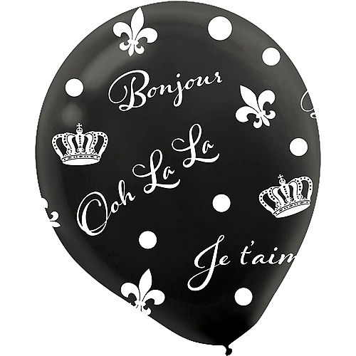 A Day in Paris Balloons 6ct Image #4