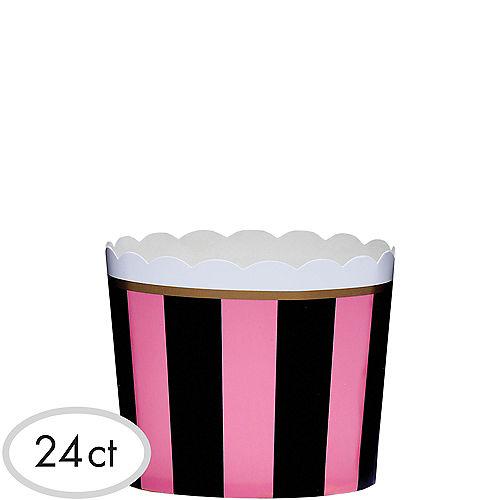 Pink & Black Scalloped Bowls 24ct Image #1