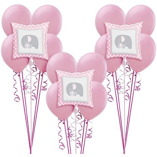 Pink Baby Elephant Balloon Kit 18ct Image #1
