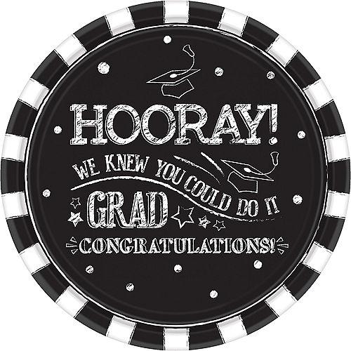 Chalk Hooray Graduation Dinner Plates 18ct Image #1
