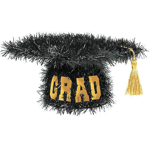 Mini 3D Tinsel Graduation Cap Decoration Image #1