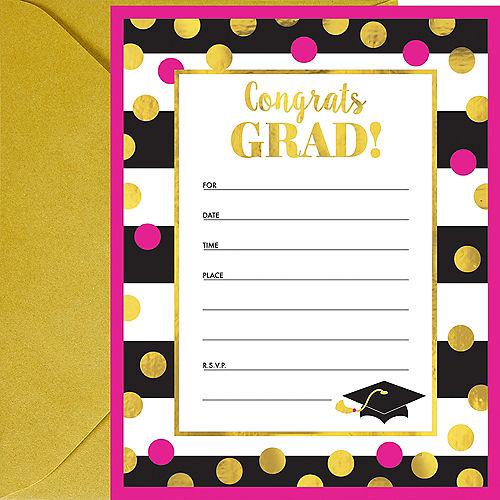 Confetti Graduation Invitations 20ct Image #1