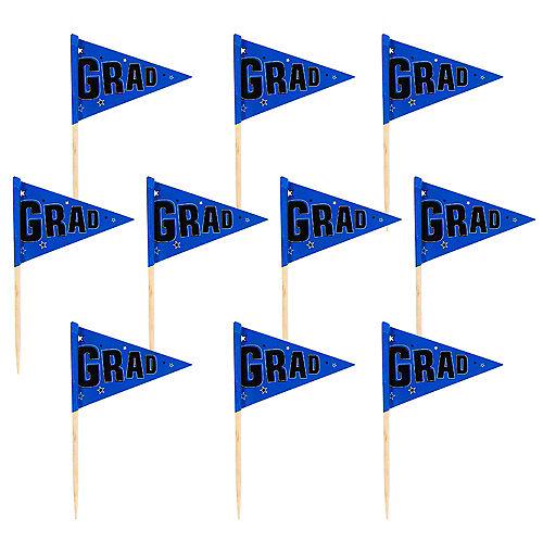 Blue Graduation Flag Picks 36ct Image #1