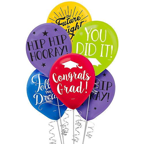 Multicolor Graduation Balloons 15ct Image #1