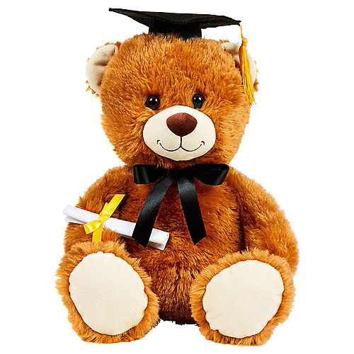 Brown Graduation Bear Plush Image #1