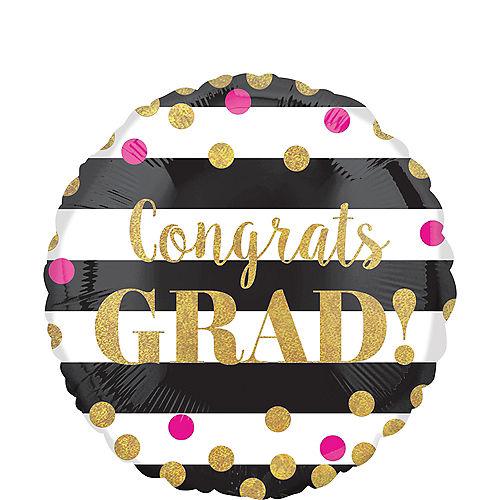 Prismatic Confetti Graduation Balloon, 18in Image #1