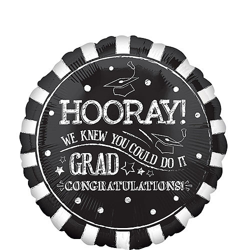 Giant Chalk Hooray Graduation Balloon, 28in Image #1