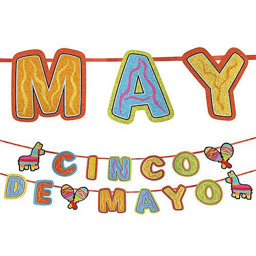Cinco de Mayo Glitter Letter Banner Image #1