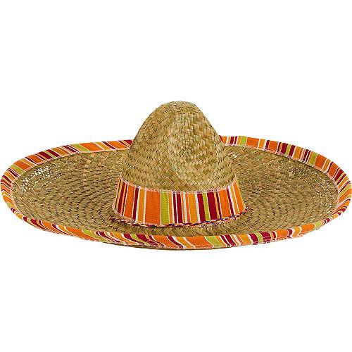 Serape Straw Sombrero Image #1