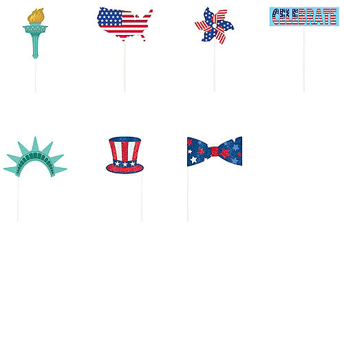 Patriotic American Flag Photo Booth Props 21ct Image #3