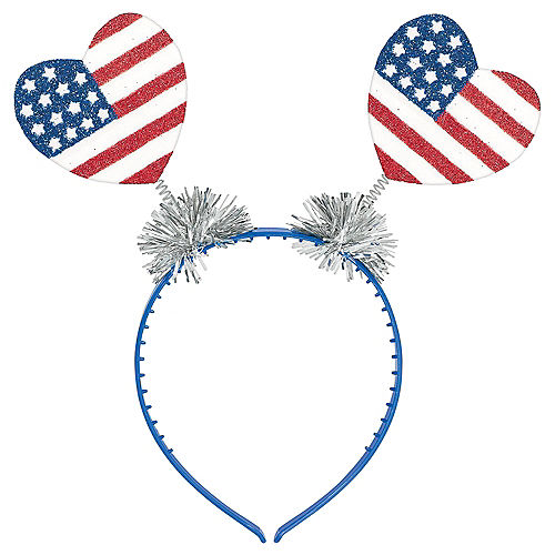 Glitter Patriotic Heart Head Bopper Image #1