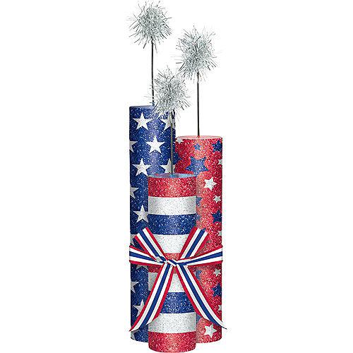 Glitter Patriotic Fireworks Centerpiece Image #1