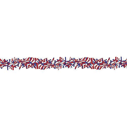 Tinsel Patriotic Garland Image #1