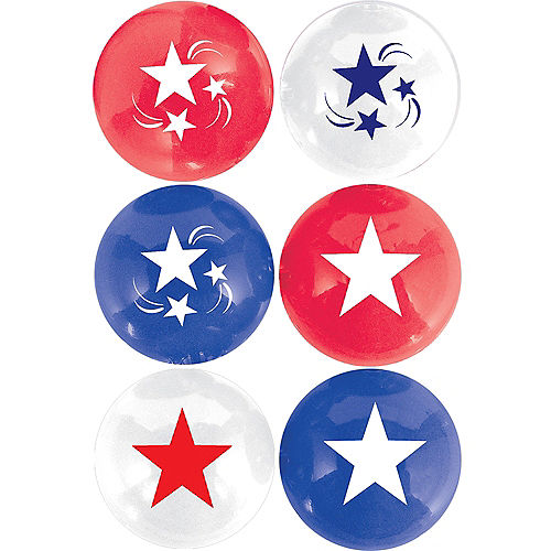 Patriotic Pong Balls 6ct Image #1