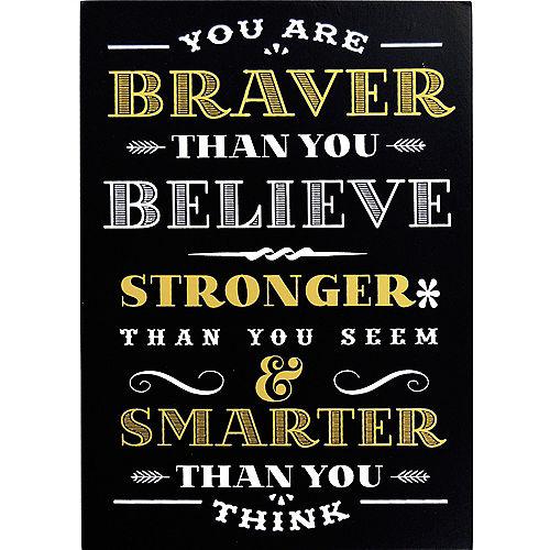 Braver Stronger Smarter Block Sign Image #1