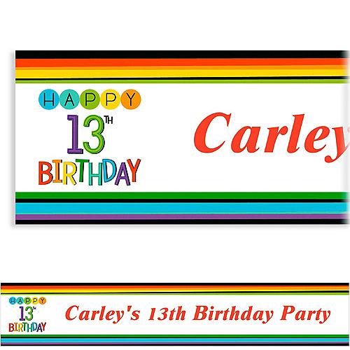 Custom Rainbow 13th Birthday Banner Image #1