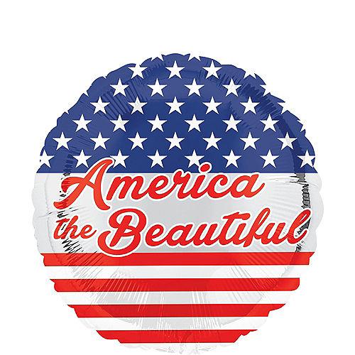 Patriotic America the Beautiful Balloon, 17in Image #1