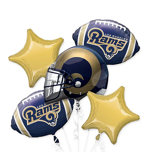 Los Angeles Rams Balloon Bouquet 5pc Image #1