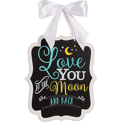 Moon Baby Shower Chalkboard Sign Image #1