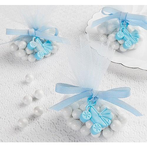 Blue Stroller Baby Shower Favor Charms 12ct Image #1