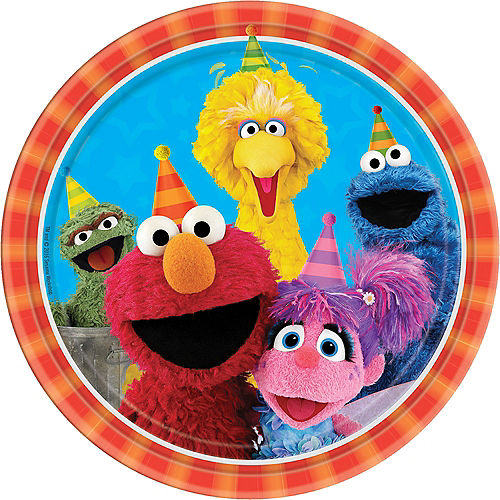 Sesame Street Lunch Plates 8ct Image #1