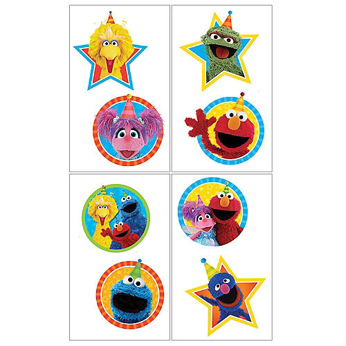 Sesame Street Tattoos 1 Sheet Image #1