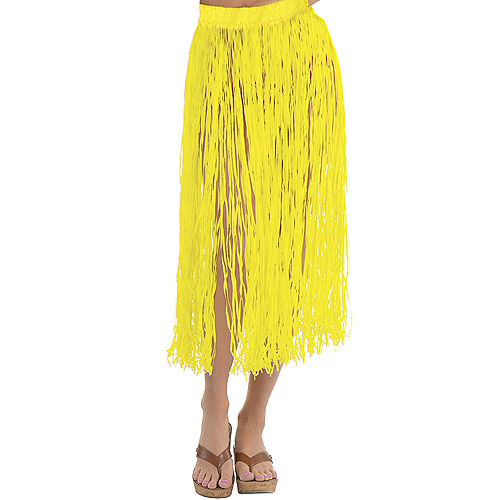 Adult Long Yellow Hula Skirt Image #1