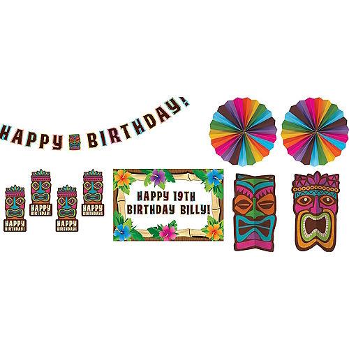 Tropical Tiki Birthday Room Decorating Kit 8pc Image #1