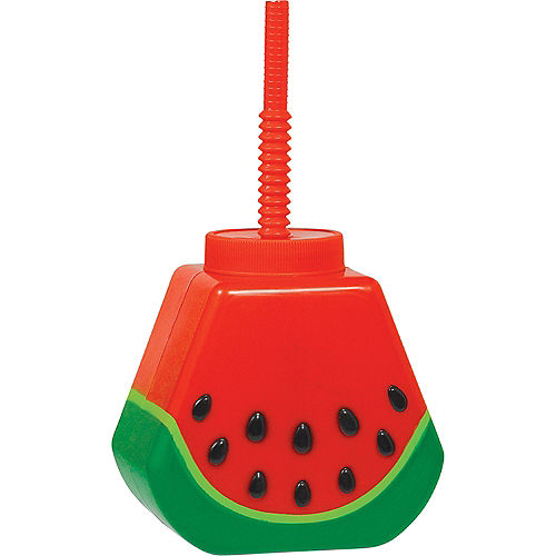 Watermelon Cup with Straw Image #1