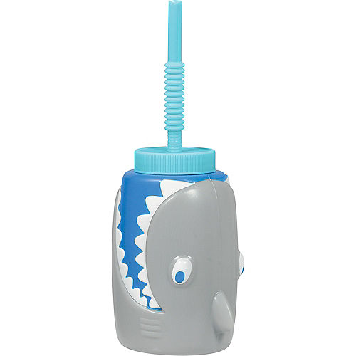 Shark Cup with Straw Image #1