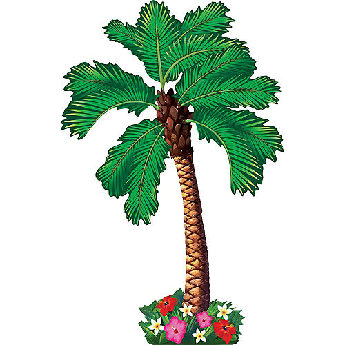 Jointed Palm Tree Cutout Image #2