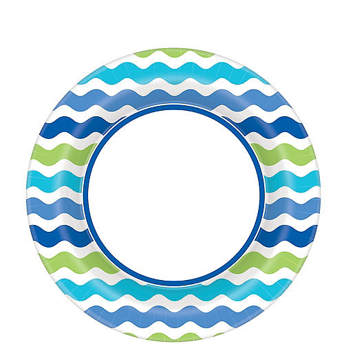 Cool Wavy Stripes Lunch Plates 40ct Image #1