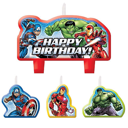 Avengers Birthday Candles 4ct Image #1