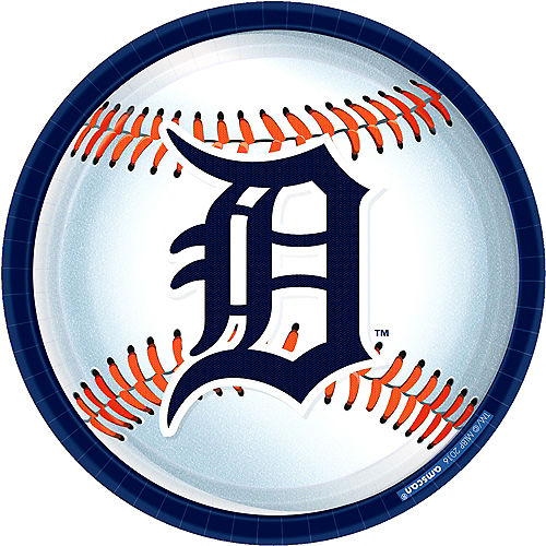 Detroit Tigers Lunch Plates 8ct Image #1