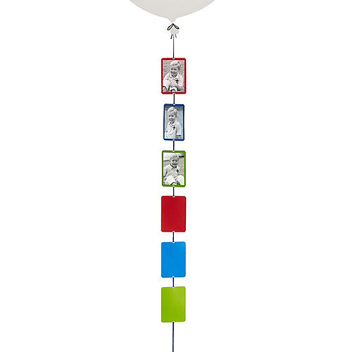 Blue, Green & Red Photo Balloon Weight Tail Image #1
