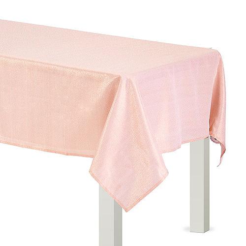 Metallic Rose Gold Fabric Tablecloth Image #1