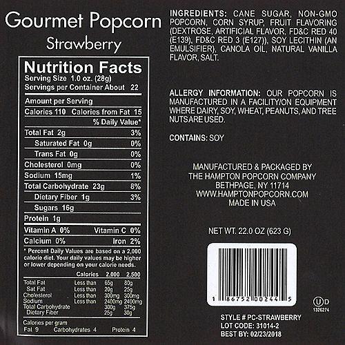 Strawberry Gourmet Popcorn Image #4