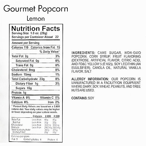 Nav Item for Lemon Gourmet Popcorn Image #4