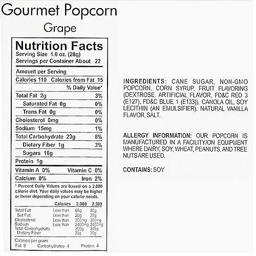 Grape Gourmet Popcorn Image #4