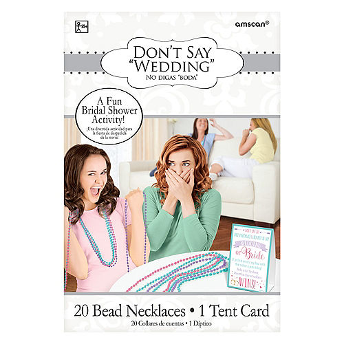 Don't Say Wedding Bead Necklace Bridal Shower Game Image #2