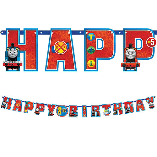 Thomas the Tank Engine Birthday Banner Kit Image #1