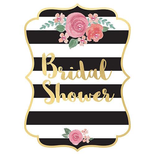 Black & Gold Bridal Shower Invitations 8ct Image #1