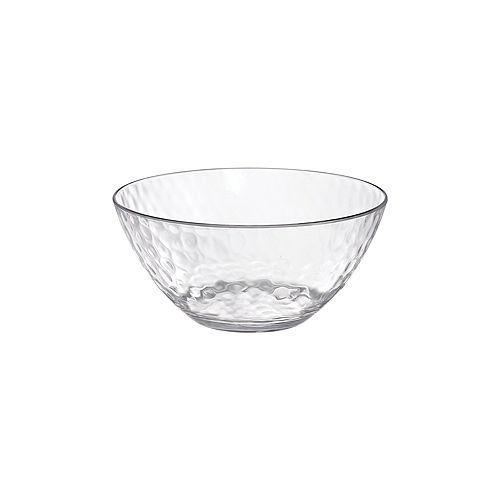 CLEAR Premium Plastic Hammered Bowl Image #1
