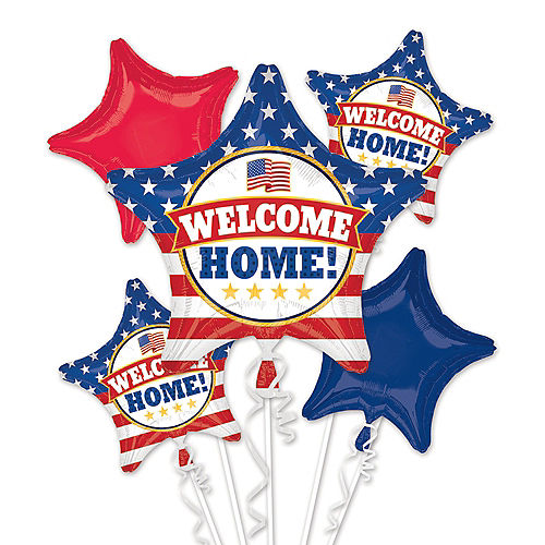 Patriotic Welcome Home Balloon Bouquet 5pc  Image #1