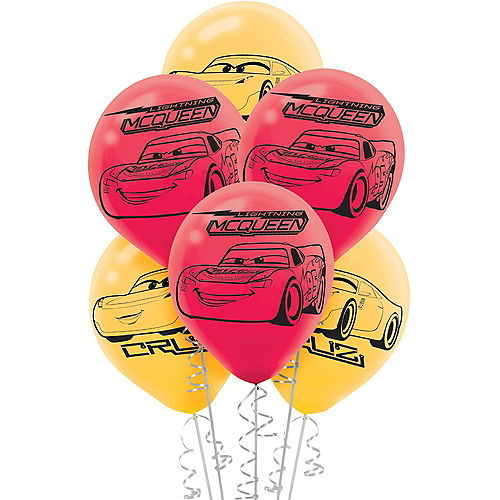 Cars 3 Balloons 6ct Image #1