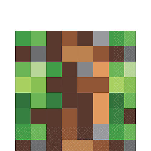 Pixelated Lunch Napkins 16ct Image #1