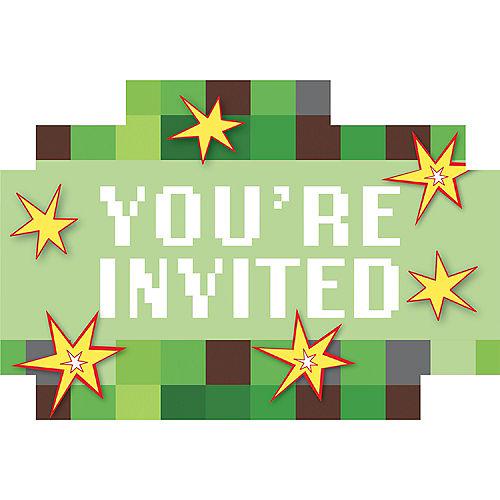 Pixelated Invitations 8ct Image #1