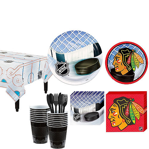 Chicago Blackhawks Party Kit for 16 Guests Image #1