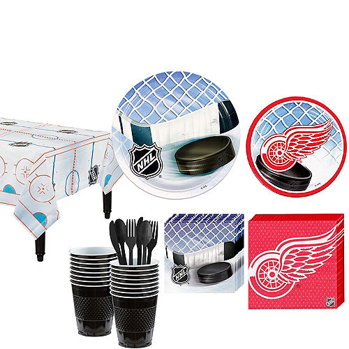Detroit Red Wings Party Kit for 16 Guests Image #1